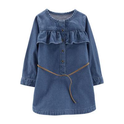 Carter's Denim Belted Dress - Toddler Girls