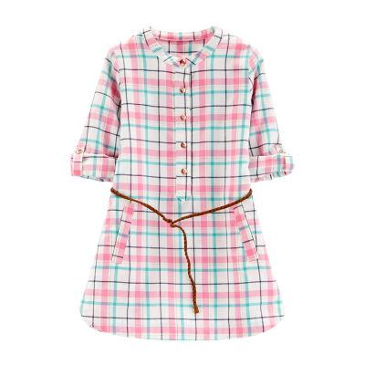 Carter's Plaid Belted Dress - Toddler Girls