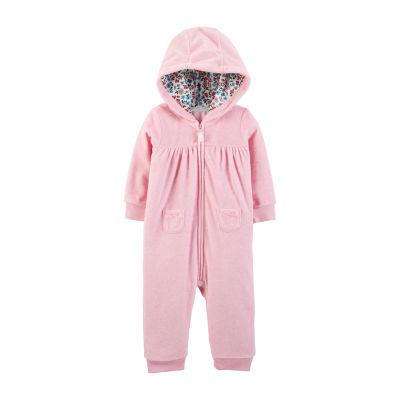 Carter's Hooded Fleece Jumpsuit - Baby Girl