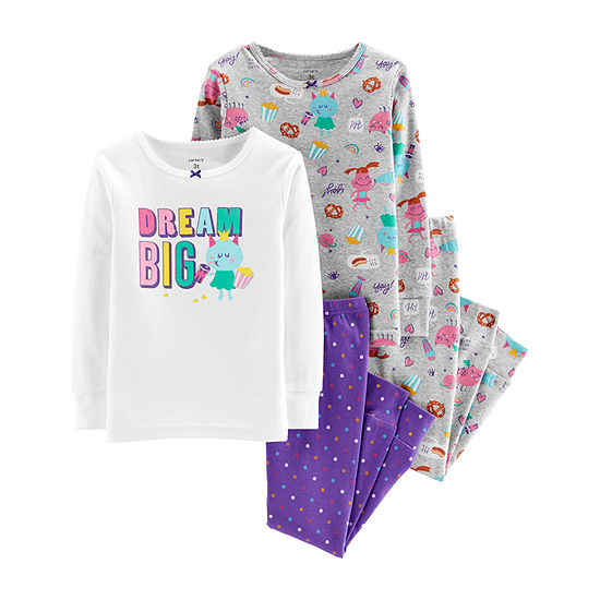 2cd8bfd83 Carters 4 pc Pant Pajama Set Girls JCPenney