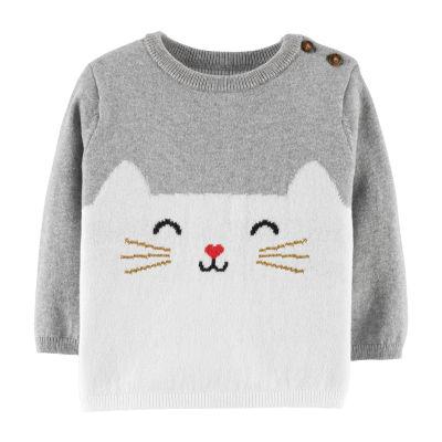 Carter's Cat Sweater - Baby Girls