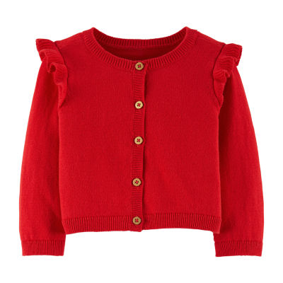 Carter's Flutter Sleeve Cardigan - Baby Girls