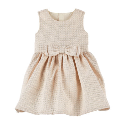 Carter's Jacquard Bow Holiday Dress - Baby Girls