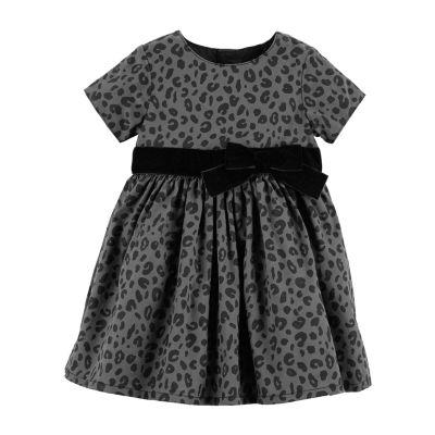 Carter's Cheetah Print Holiday Dress - Baby Girls