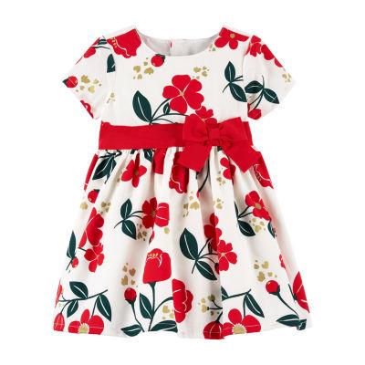 Carter's Short Sleeve Fit & Flare Dress - Baby Girls
