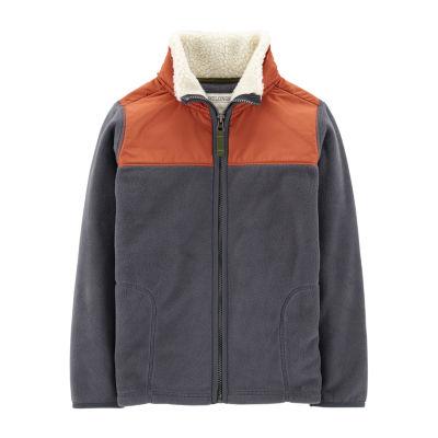 Carter's Sherpa Fleece Zip Jacket -Preschool Boys