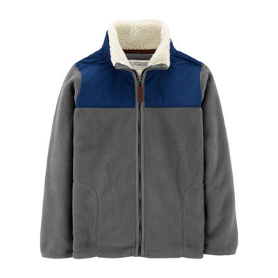 Carter's Sherpa Front Zip Fleece Jacket-Preschool Boys