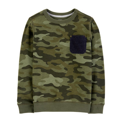 Carter's Long Sleeve Camouflage Sweatshirt - Preschool Boys