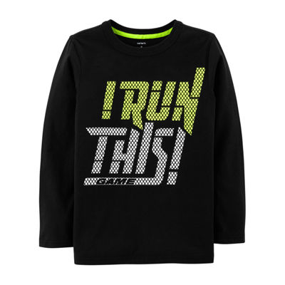 Carter's Ls Athletic Tee Run This Long Sleeve Round Neck T-Shirt Boys