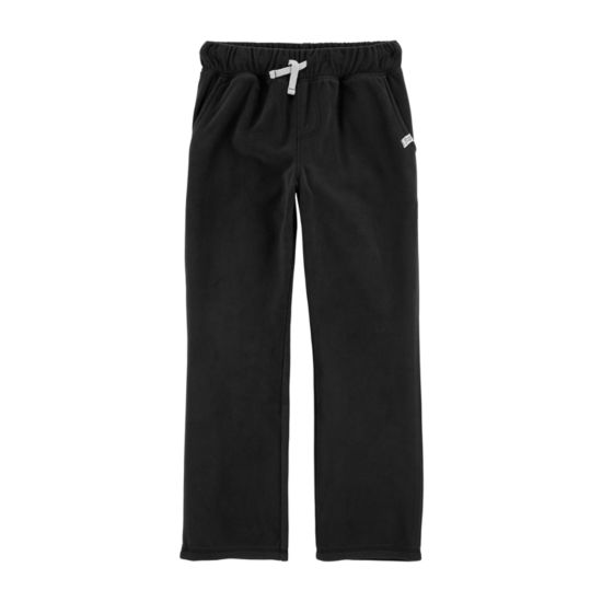 Carter's Psb Blk Microfleece Pull-On Pants Boys
