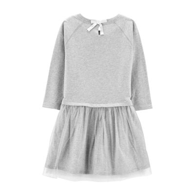 Carter's Sparkle Tutu- Preschool Short Sleeve Dress Girls