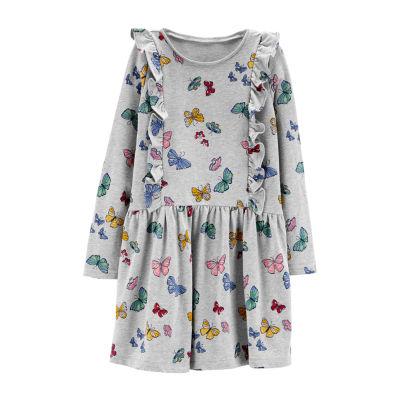 Carter's Butterfly Print Dress - Preschool Girls Short Sleeve A-Line Dress Girls