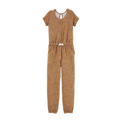 Carter's Cheetah Jumpsuit - Preschool Girls Short Sleeve