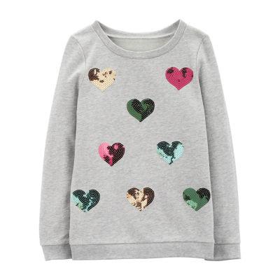 Carter's Graphic Long Sleeve Sweatshirt - Preschool Girls