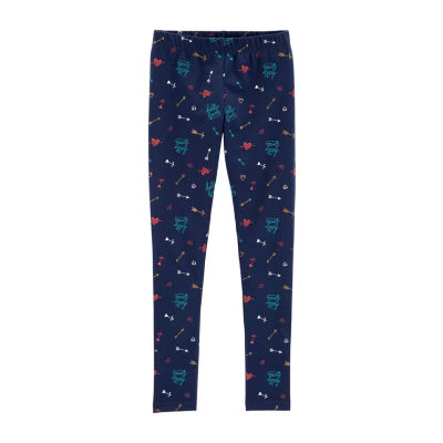 Carter's Psg Navy Arrow And Hearts Legging Knit Leggings - Preschool Girls