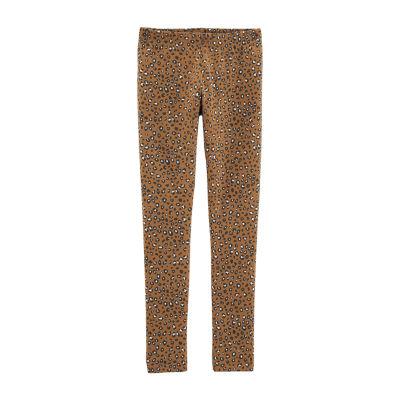 Carter's Gold Leopard Print Knit Leggings - Girls