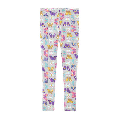 Carter's Gray Butterfly Knit Leggings - Girls