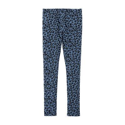 Carter's Blue Leopard Print Knit Leggings - Girls