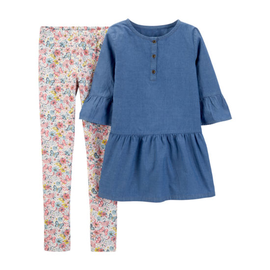 Carter's Elbow Sleeve Top & Pant 2 pc. Set - Preschool Girls
