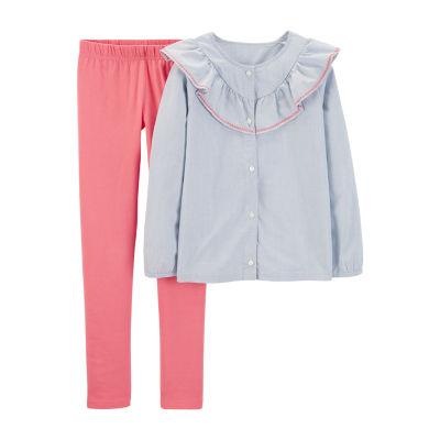 Carter's Long Sleeve Top & Pant 2 pc. Set - Preschool Girls