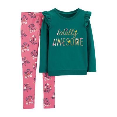 Carter's Long Sleeve Top & Pant 2pc. Set - Preschool Girls