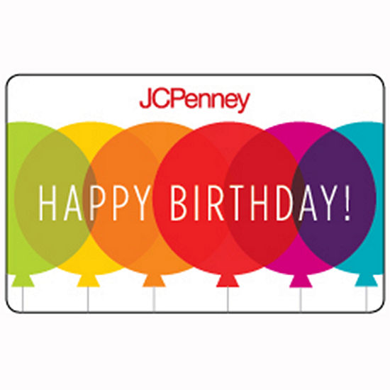 Balloon Birthday Gift Card Jcpenney