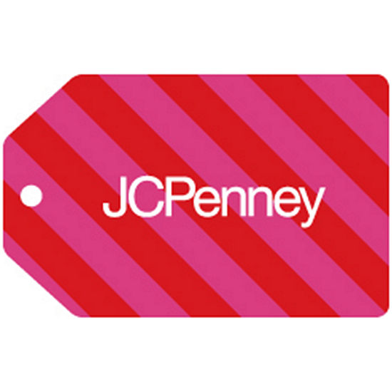 Red Pink Stripe Gift Card