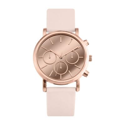 Mixit Womens Pink Strap Watch-Pt3063rgbh