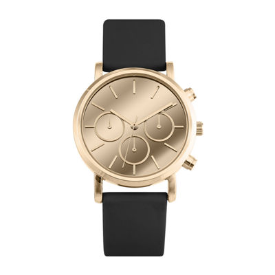 Mixit Womens Black Strap Watch-Pt3063rgbk