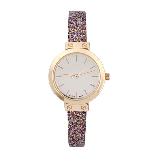 Mixit Womens Multicolor Strap Watch-Pt5268rgmt