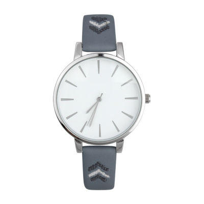 Mixit Womens Blue Strap Watch-Pt5980svnv