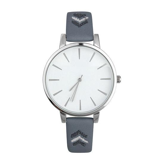 Mixit Womens Blue Strap Watch-Pt5980svnv