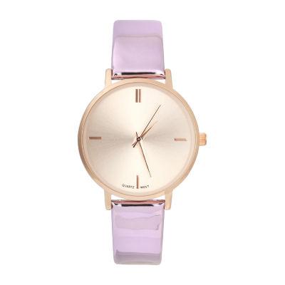 Mixit Womens Purple Strap Watch-Pt5985rgpp