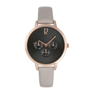 Mixit Womens Gray Strap Watch-Pt5972rggy