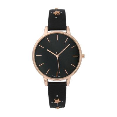 Mixit Womens Black Strap Watch-Pt5982rgbk