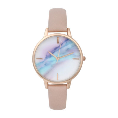 Mixit Womens Pink Strap Watch-Pt5275rgbh