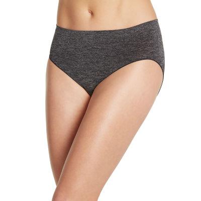 Jockey Smooth & Shine Seamfree® Heathered Microfiber High Cut Panty 2188