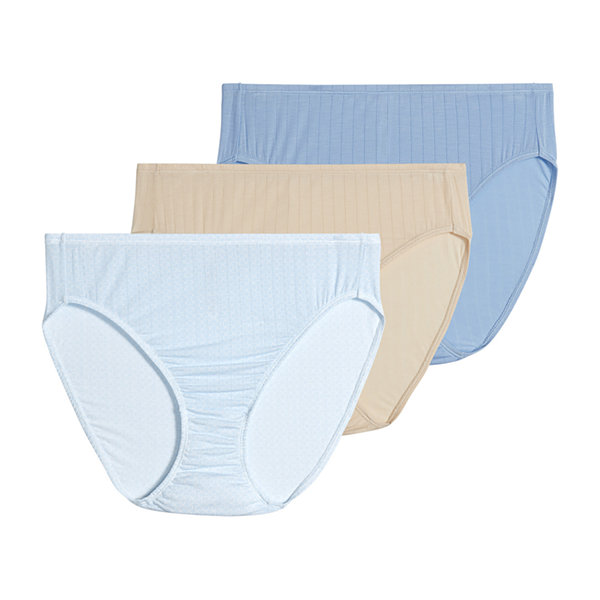 Jockey Supersoft Breathe Micromodal® 3 Pair Microfiber High Cut Panty 2371
