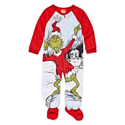 Grinch Long Sleeve One Piece Pajama-Toddler Girls