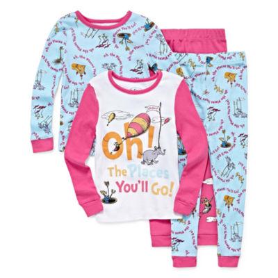 4-pc. Pant Pajama Set Girls