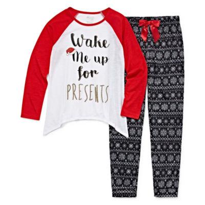 Sleep On It 2 pc Jogger Pant Pajama Set - Girls