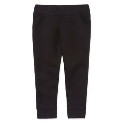 Okie Dokie Black Fleece Pull-on Pant - Baby Boy NB-24M