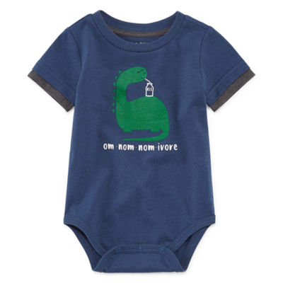Okie Dokie Short Sleeve Faux Doubler Bodysuit - Baby Boy 3M-24M
