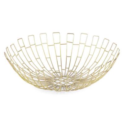 "Home Essentials 14"" Wire Basket Decorative Bowl"