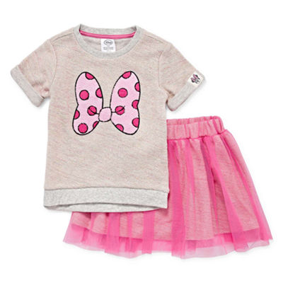 Disney 2-pc. Minnie Mouse Skirt Set Toddler Girls