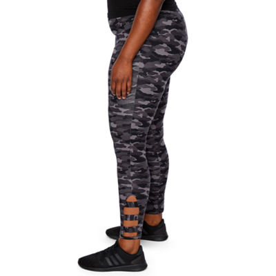 Mixit Plus Print Ankle Detail Leggings