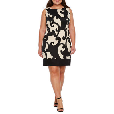 Alyx Sleeveless Scroll Sheath Dress - Plus