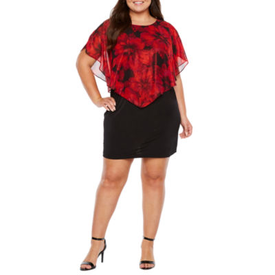 Alyx Short Sleeve Floral Sheath Dress - Plus
