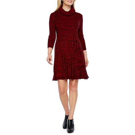 af75a32ec5 Studio 1 3 4 Sleeve Sweater Dress-Petite - JCPenney