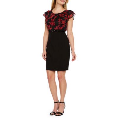 Alyx Short Sleeve Party Dress-Petite